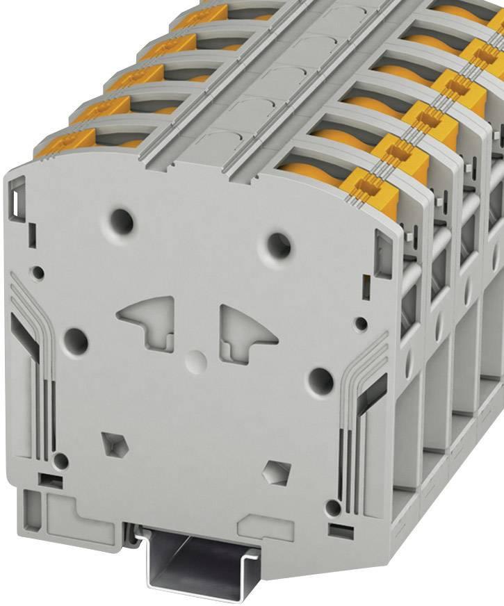 Vysokoproudá průchodová svorka Phoenix Contact PTPOWER 95 (3260100), 25 mm, šedá
