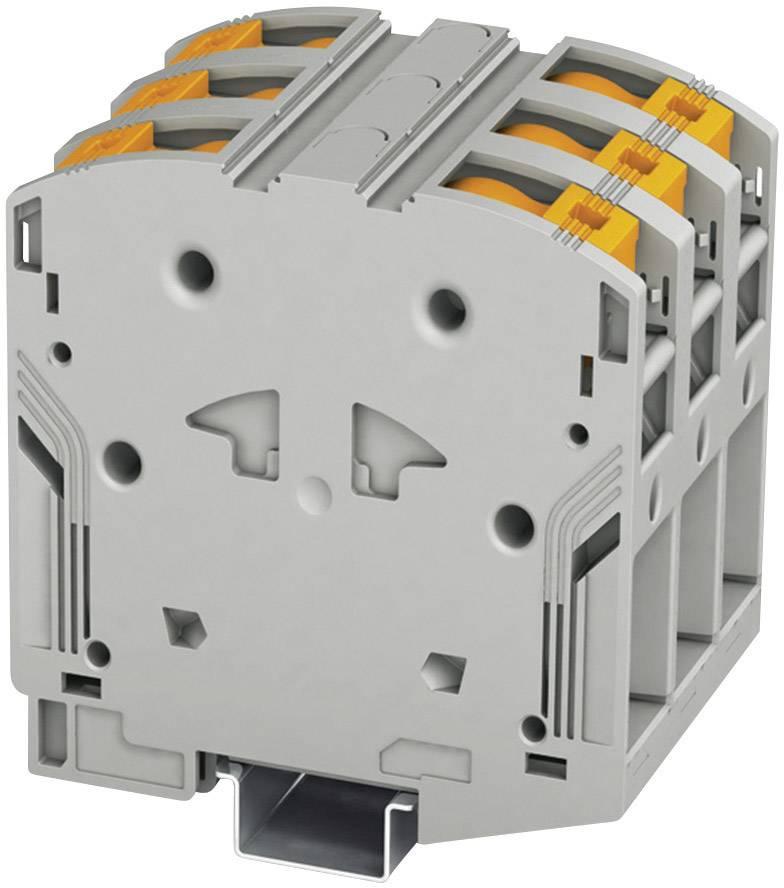 Vysokoproudá svorka Phoenix Contact PTPOWER 95-3L (3260109), 75 mm, šedá