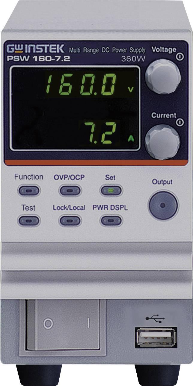 Laboratorní zdroj s nastavitelným napětím GW Instek PSW160-7.2, 0 - 16 V/DC, 0 - 7.2 A, 360 W