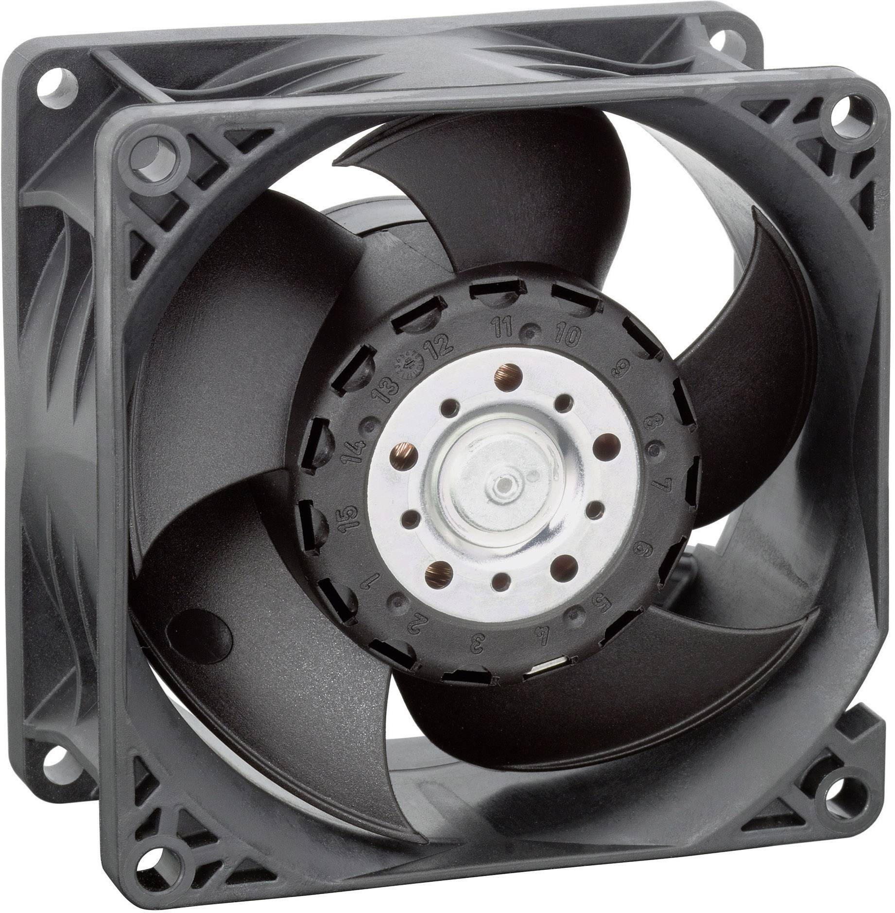 Axiální ventilátor EBM Papst, 8214 JH4, 24 V, 71 dBA, 80 x 80 x 38 mm