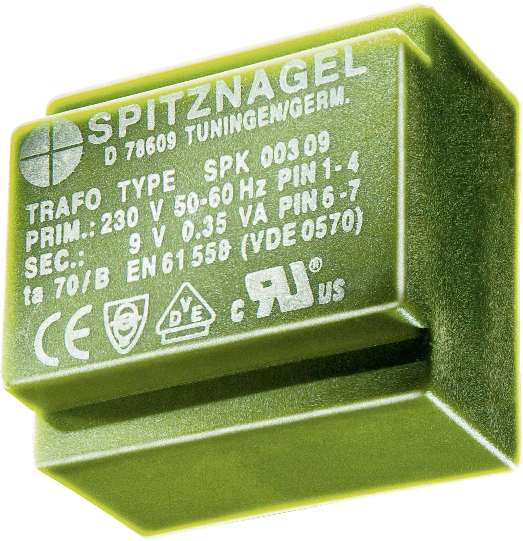 Transformátor do DPS Spitznagel El 30/10,5, 230 V/2x 9 V, 2x 83 mA, 1,5 VA