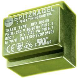 Transformátor do DPS Spitznagel El 38/13, 230 V/24 V, 158 mA, 3,8 VA