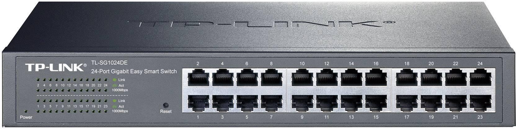 Síťový switch TP-LINK, TL-SG1024DE, 24 portů, 1 Gbit/s