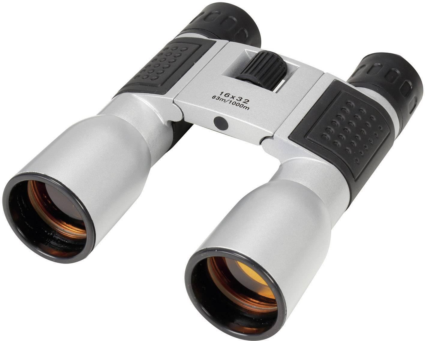 Ďalekohľad Basetech Compact 16x32 32 mm, striebornočierná