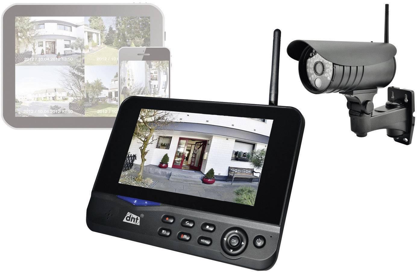 """Bezdrátová venkovní kamera s TFT monitorem 7"""" dnt QuattSecure IP Starterset, 2"""