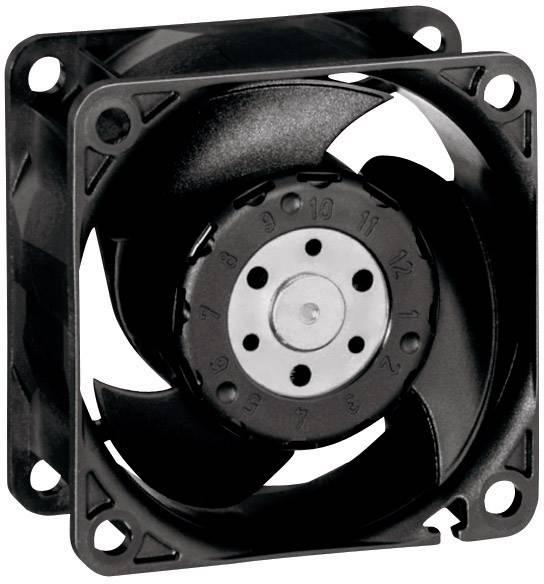 Axiální ventilátor EBM Papst 612 JH, 12 V, 53 dBA, 60 x 60 x 32 mm, černá