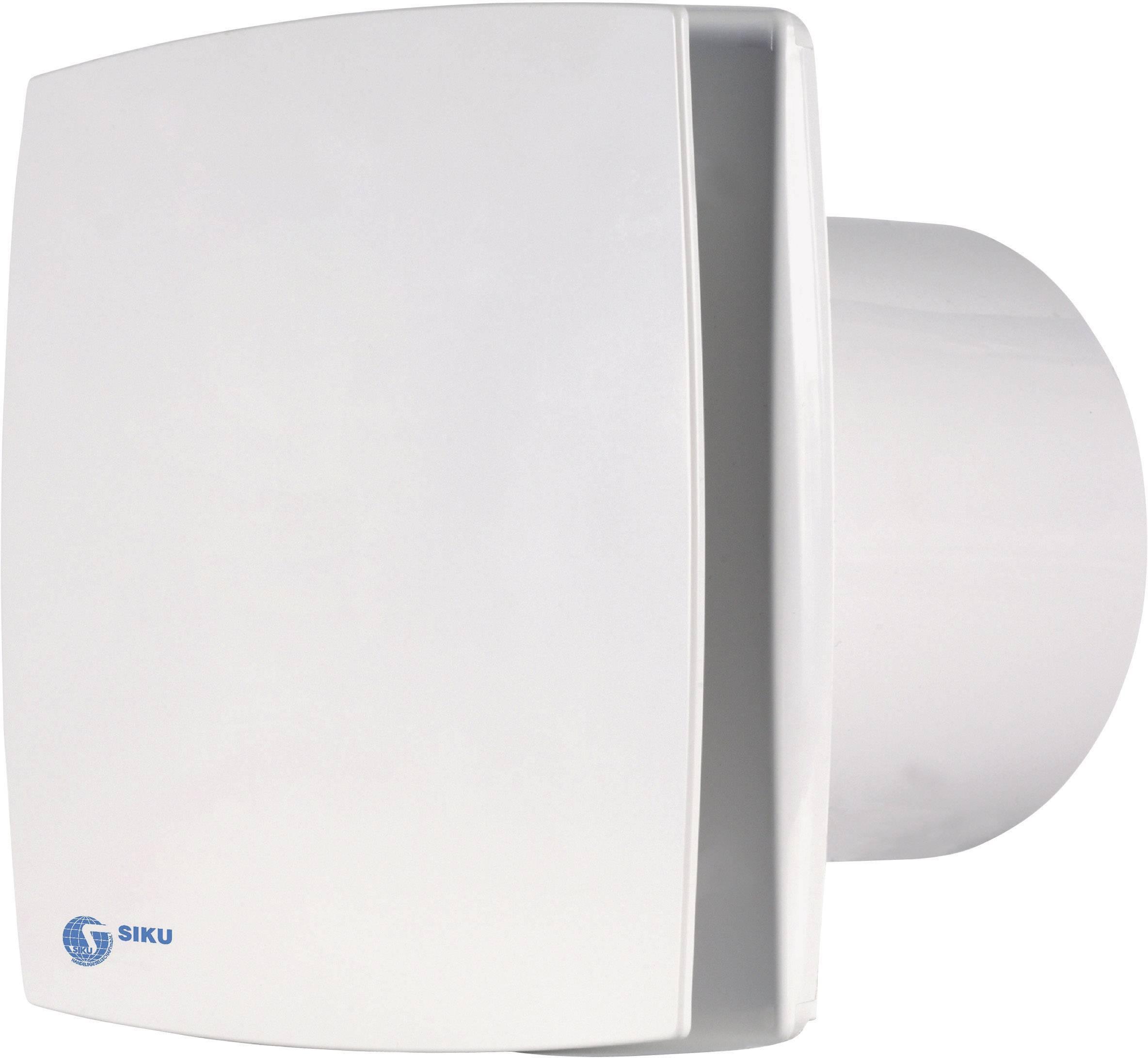 Nástenný a stropný ventilátor s časovým relé SIKU 100 LD, biely