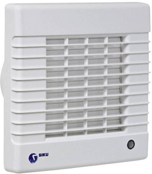 Nástenný a stropný ventilátor so žalúziami SIKU 125, biely