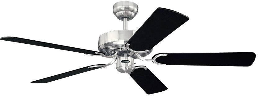 Stropní ventilátor Westinghouse Cyclone, Ø 132 cm, černá+stříbrná/chrom