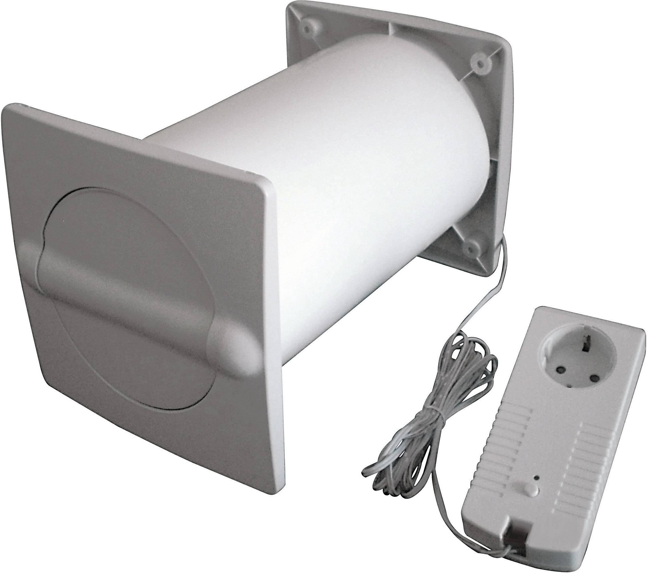 Energeticky úsporný nástenný ventilátor Wallair N37217, vhodný pre trubice s Ø 150 mm, umelá hmota