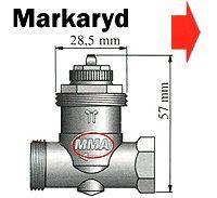 Mosazný adaptér termostatického ventilu Markaryd 700 100 010 vhodný pro topné těleso Markaryd, M28 x 1,5