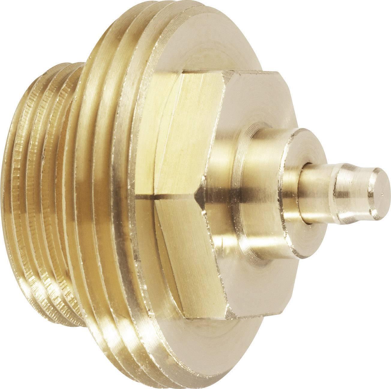 Mosazný adaptér termostatického ventilu Gampper 700 100 012-2 vhodný pro topné těleso Gamper, M20 do hloubky více jak 10 mm