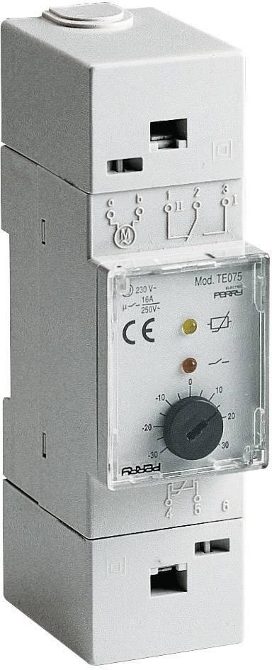 Vstavaný termostat Wallair 1TMTE075, klobúčikové tienidlo, -30 do 30 °C