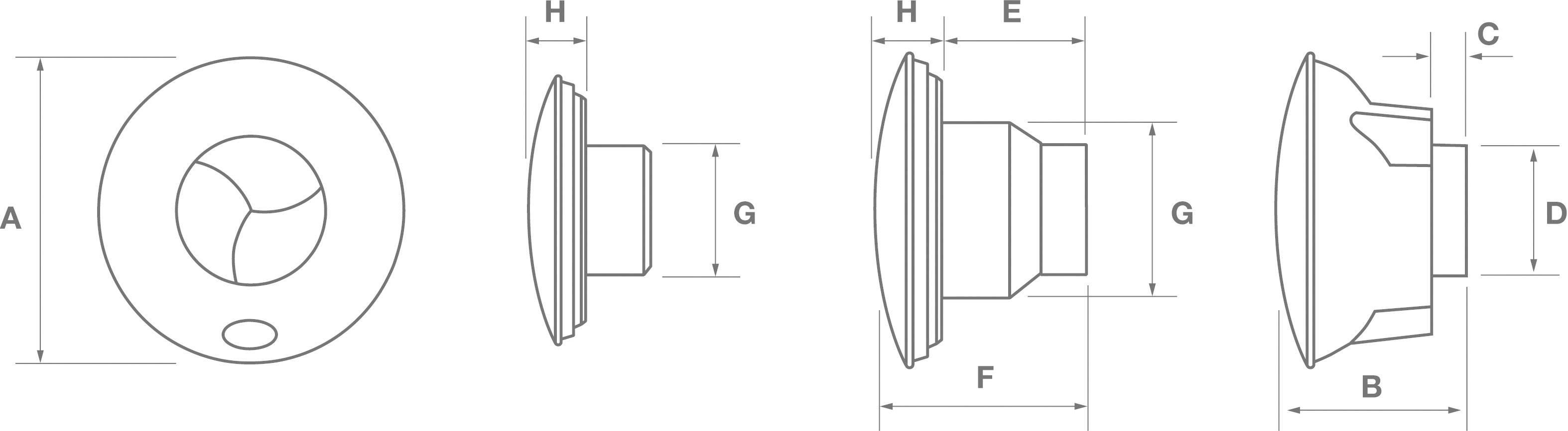 Nástenný a stropný ventilátor ICON 15 100 mm
