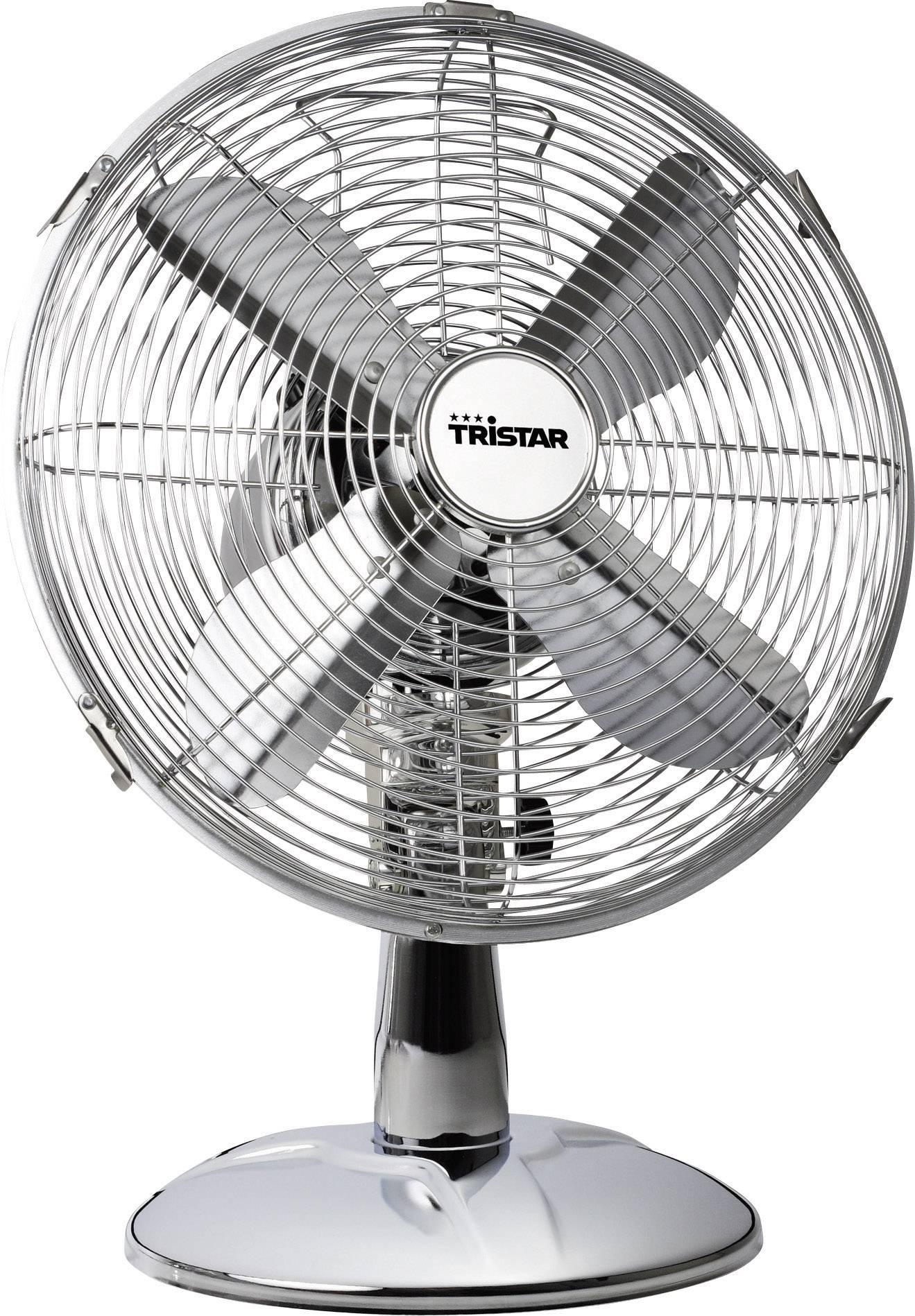 Stolní ventilátor Tristar VE-5953, Ø 30 cm, 45 W, chrom