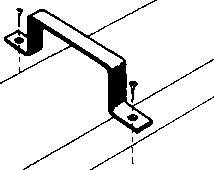 Držák plochého kanálu Wallair, 2 ks, bílá