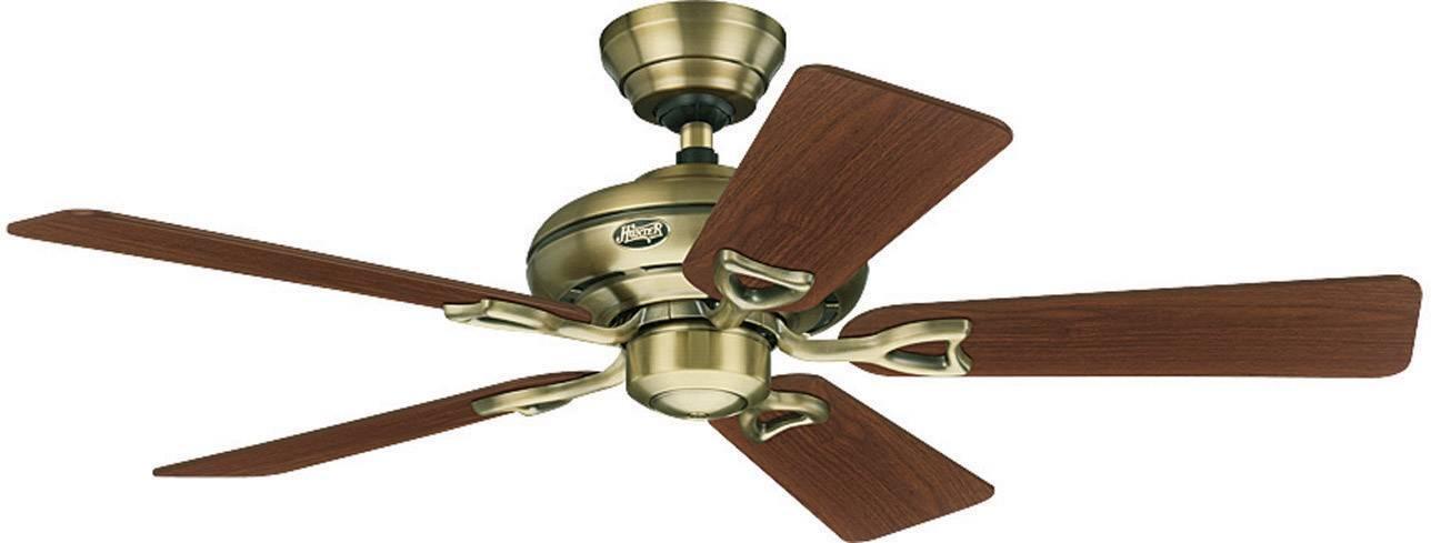 Stropní ventilátor Hunter Seville II MA, Vnější Ø 112 cm, ořechová, dub