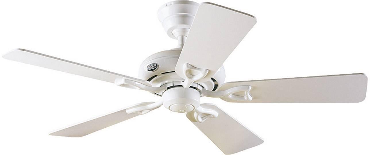 Stropní ventilátor Hunter Seville II WE, Vnější Ø 112 cm, bílá, dub