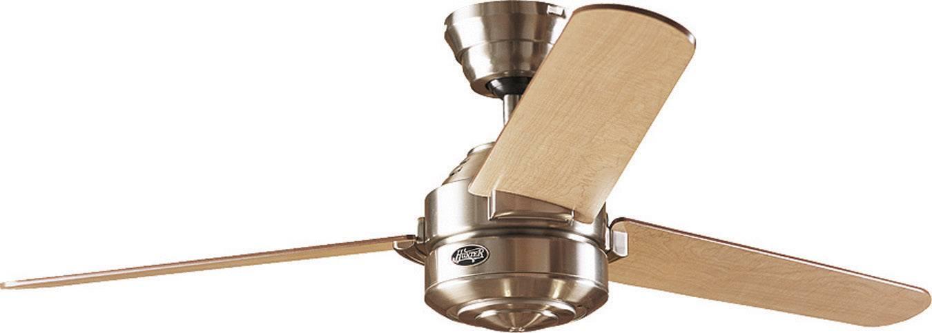 Stropní ventilátor Hunter Carera BN, Vnější Ø 132 cm, ořechová, javorová
