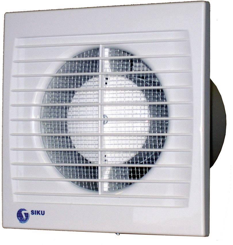 Vestavný ventilátor Siku 100 S Silenta, 30381, 230 V, 95 m3/h, 12 x 15 cm