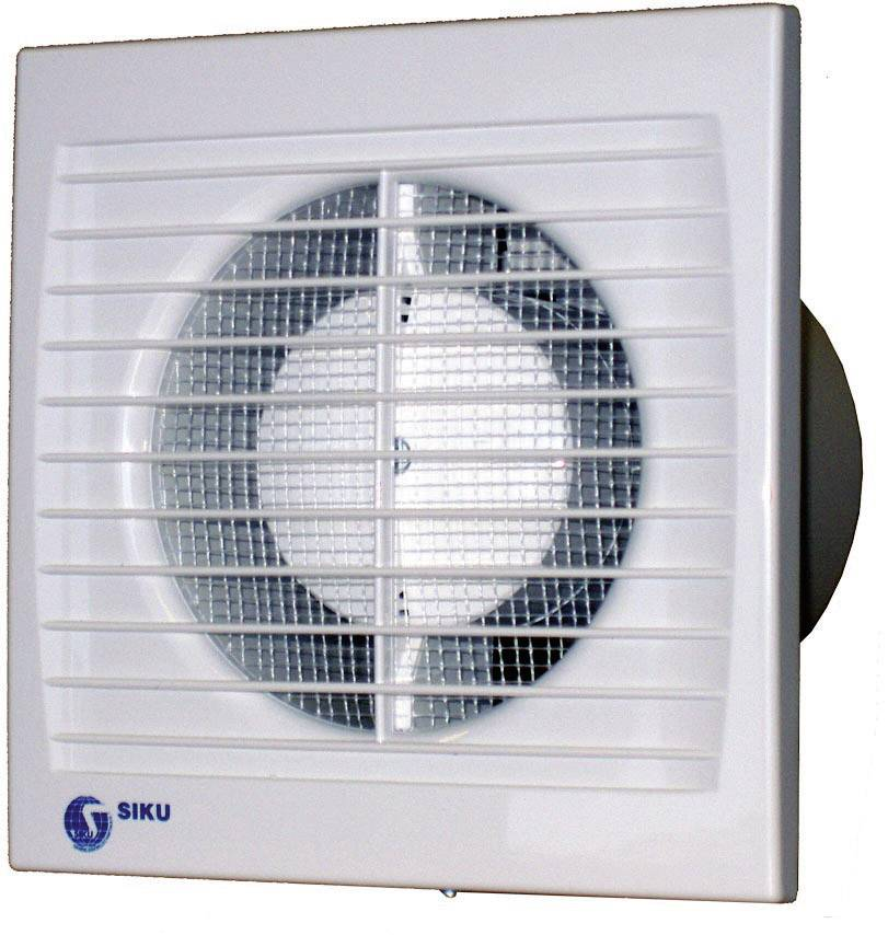 Vestavný ventilátor Siku 125 S Silenta, 30383, 230 V, 148 m3/h, 14 x 17,6 cm