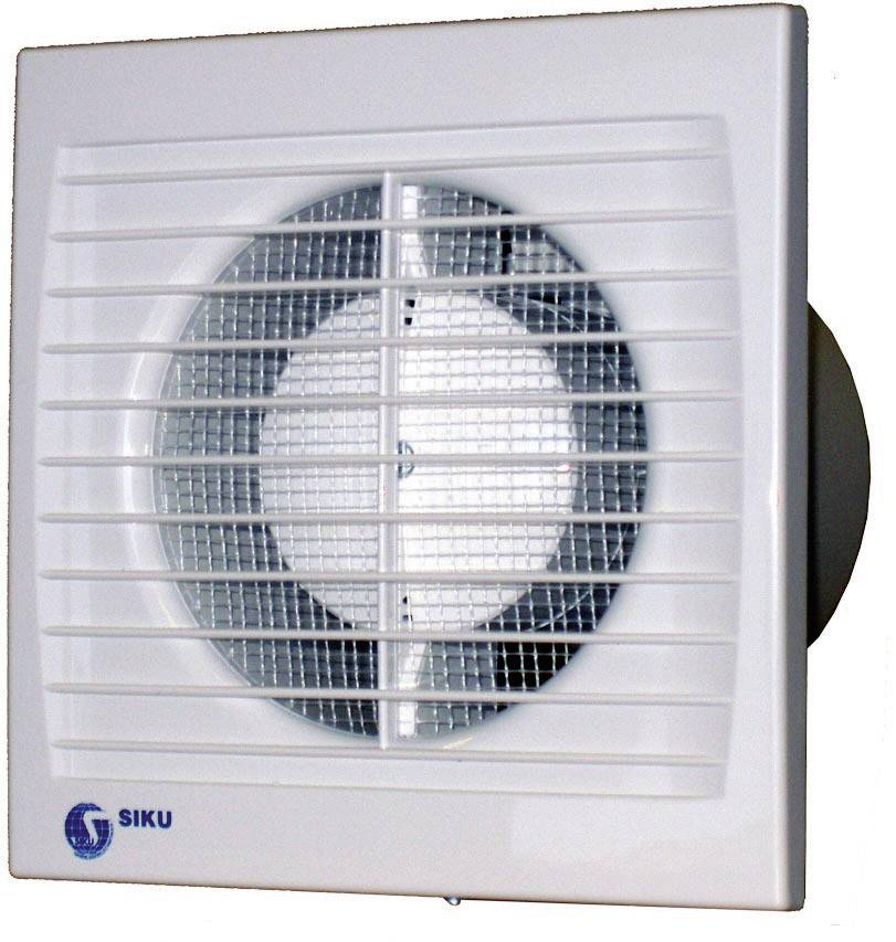 Vestavný ventilátor Siku 150 S Silenta, 30385, 230 V, 292 m3/h, 16,5 x 20,5 cm
