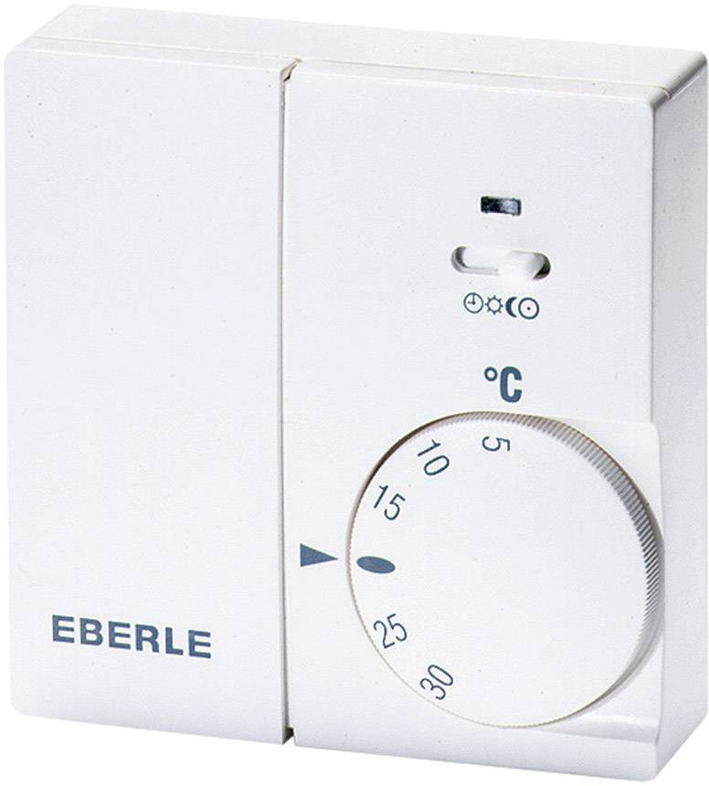 Bezdrôtový termostat - vysielač Eberle Instat 868-R1, 5 až 30 °C, biely