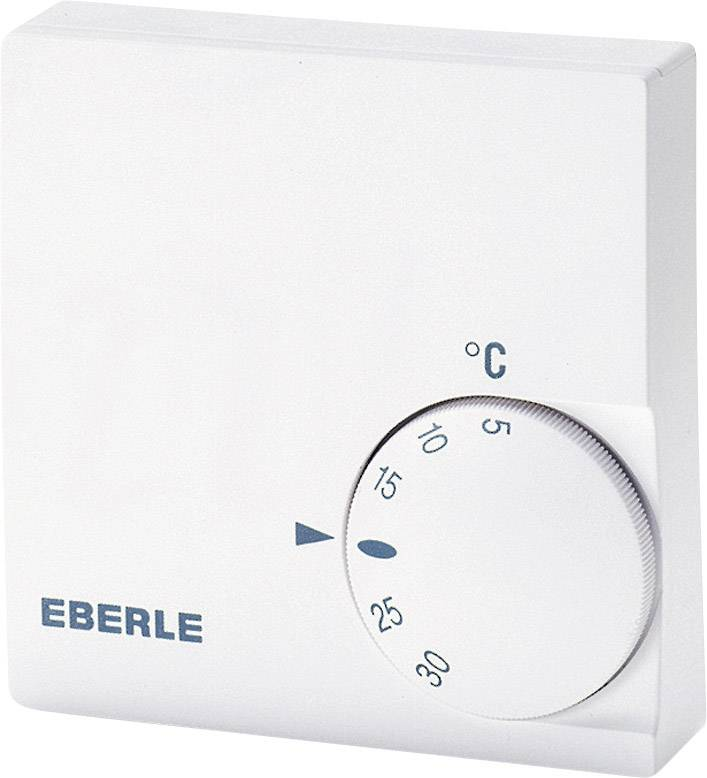 Izbový termostat Eberle RTR-E 6721, 5 až 30 °C, biely