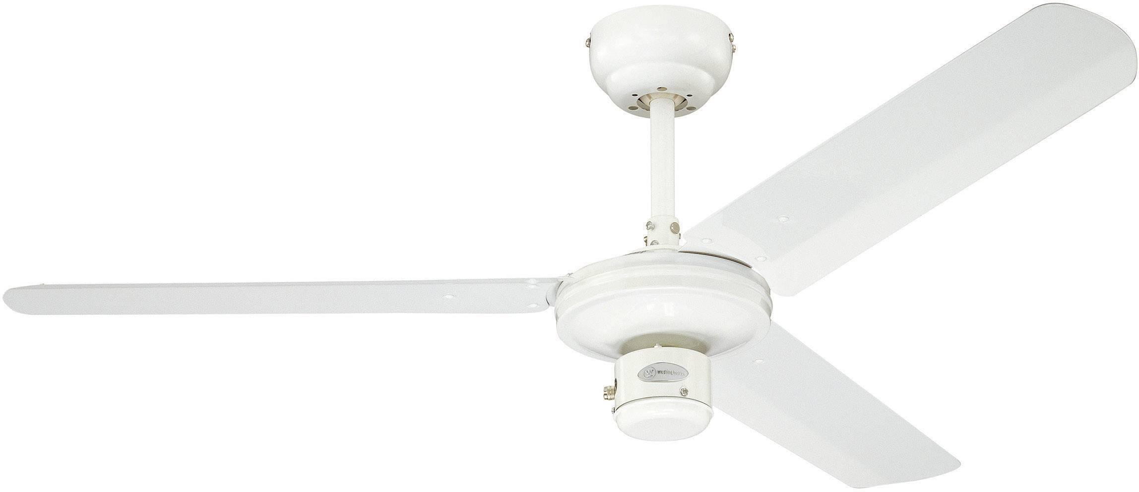 Stropní ventilátor Westinghouse Industrial, 3 lopatky, Ø 122 cm, bílá/bílá