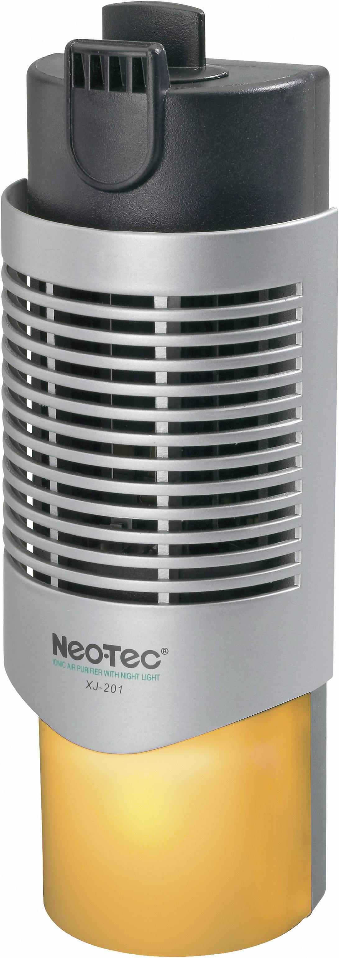 Ionizátor vzduchu so svetlom XJ-201, 20 m², 3 W, čierna, strieborná