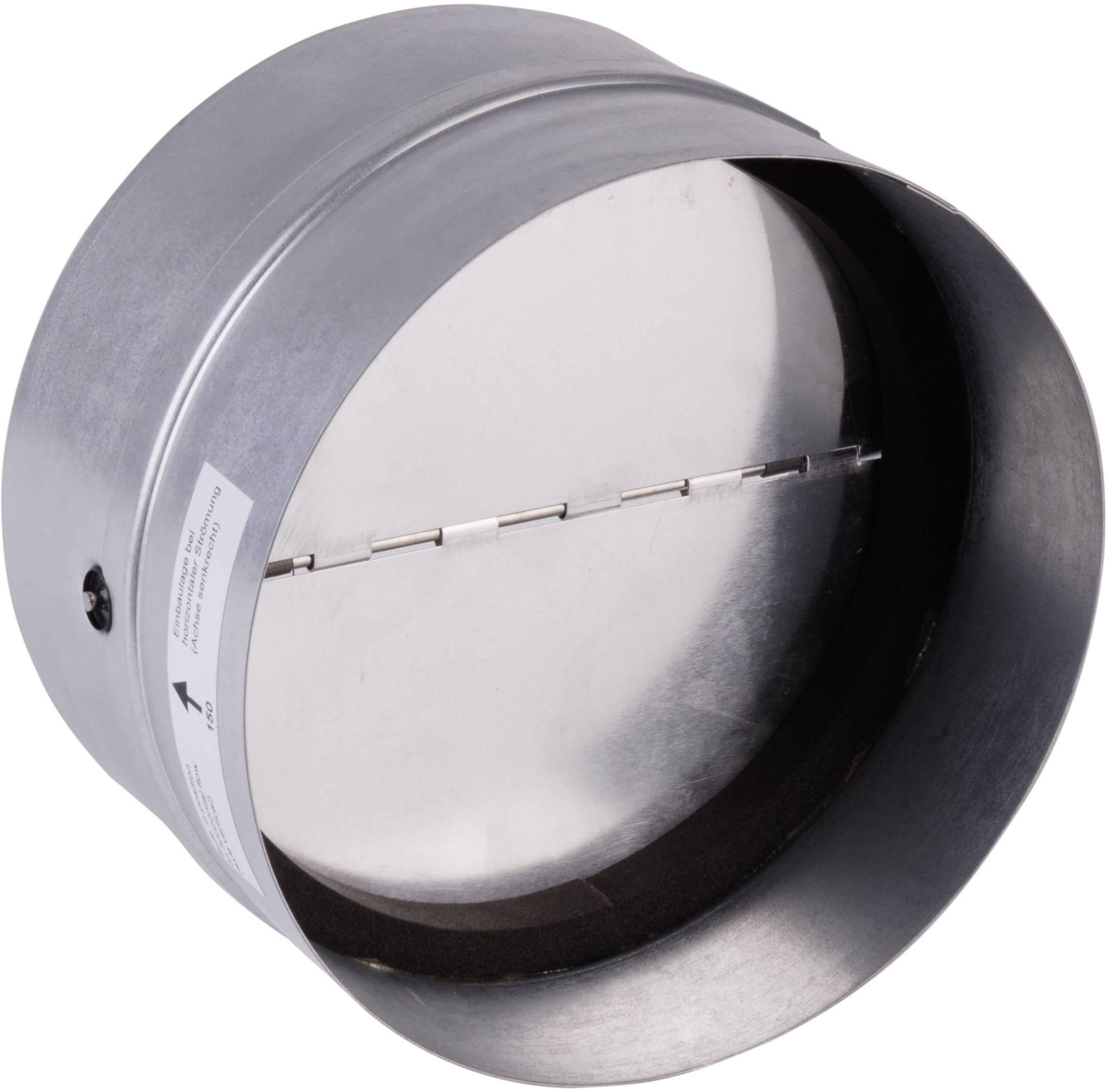 Spätná klapka s istiacou gumičkou Wallair 125 m, pozinkovaná
