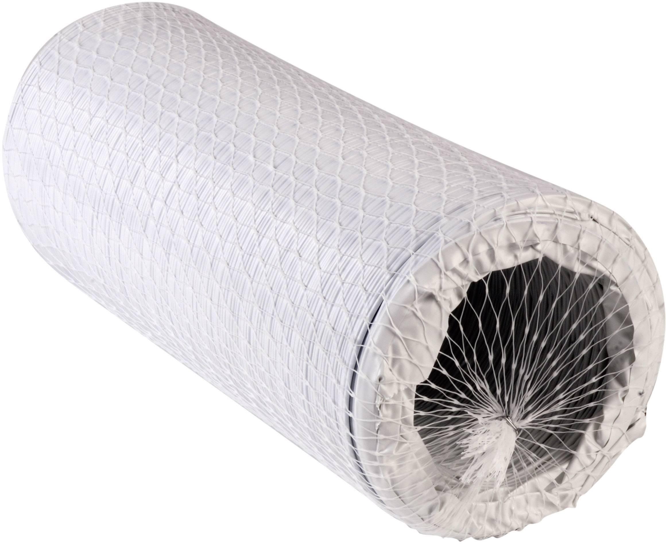 Flexibilní plastová spirálová hadice 127 mm, bílá, N52901