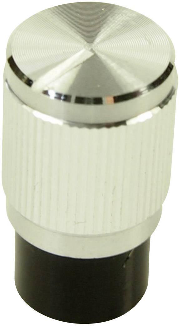 Otočný knoflík Cliff FC7258, pro sérii KMK10E, 6 mm, s drážkováním, stříbrná