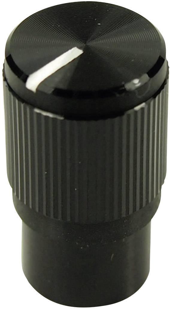 Otočný gombík Cliff FC7259, (Ø x v) 10.7 mm x 19 mm, čierna, 1 ks