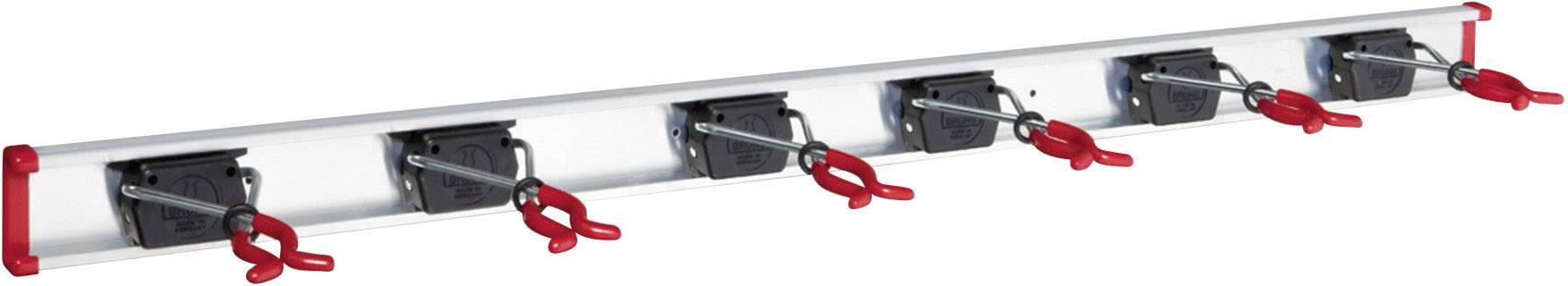 Lišta s držáky na nářadí Bruns, SB 6.10 C, 6 držáků, 1 m