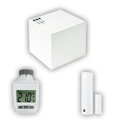 Sada termostatické hlavice, okenního kontaktu a Cube systému eQ-3 MAX!