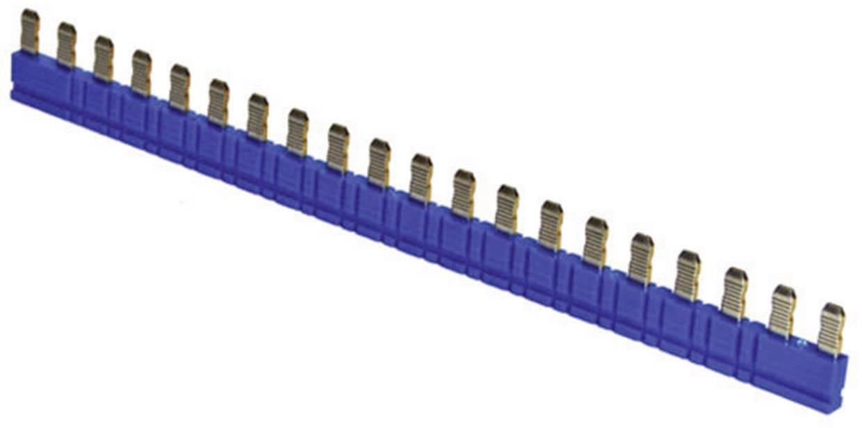 Můstek pro RV8H IDEC pro max. 20 připojení SV9Z-J20S, 6 A, modrá