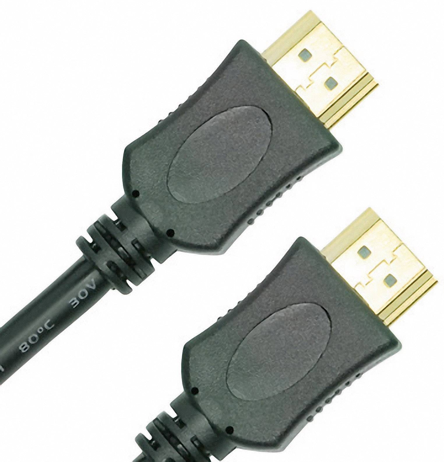 HDMI připojovací kabel, zástrčka/zástrčka, 1 m, černý
