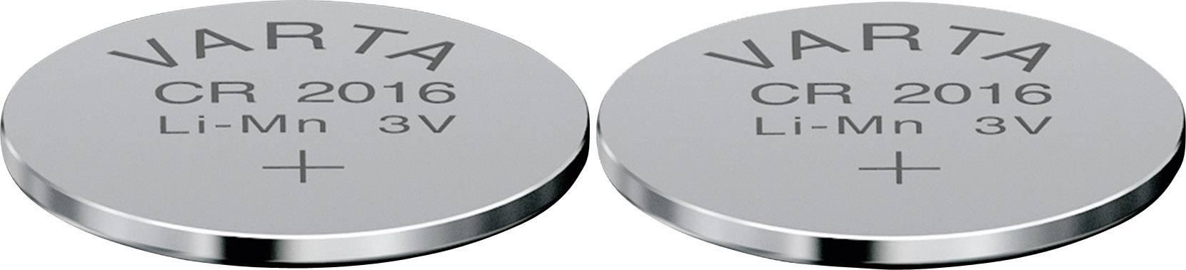 Gombíková batéria Varta CR 2016, lítium, 2 ks, 6016101402