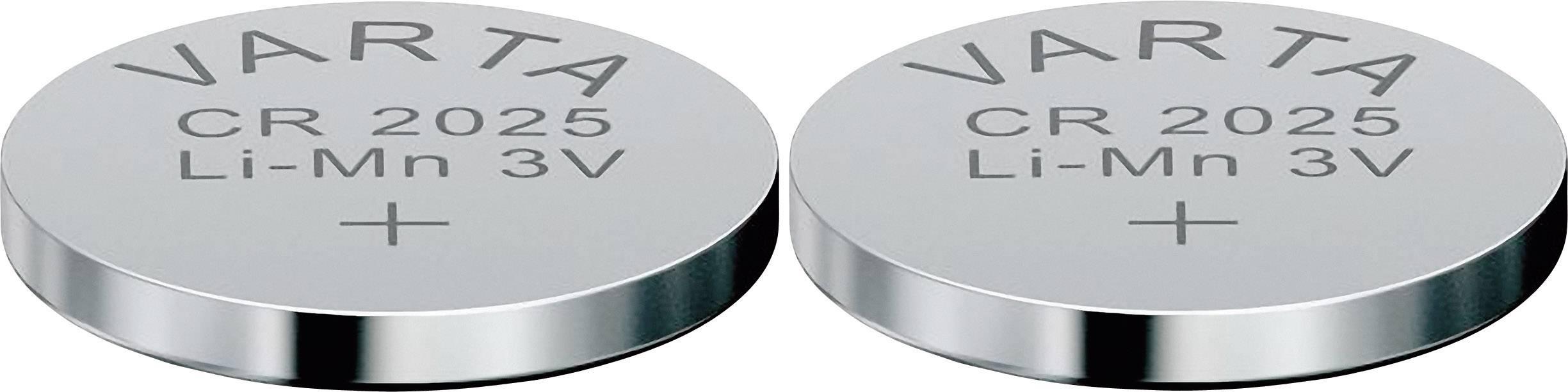 Gombíková batéria Varta CR 2025, lítium, 2ks, 6025101402