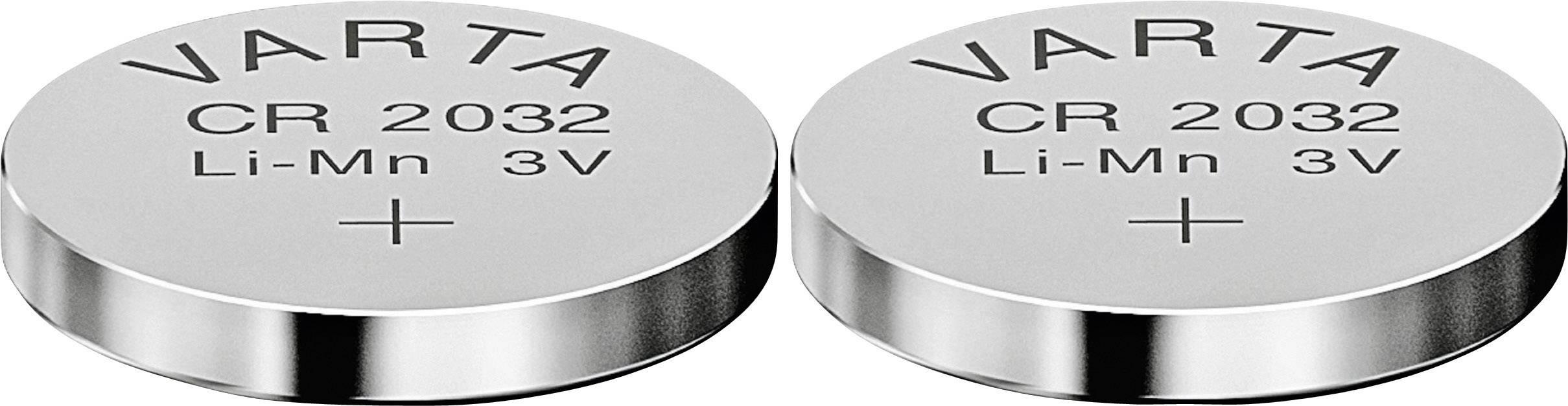 Gombíková batéria Varta CR 2032, lítium, 2 ks, 6032101402