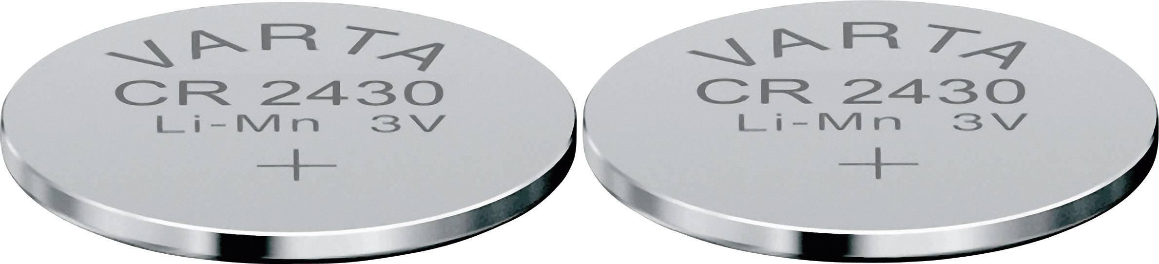 Gombíková batéria Varta CR2430, lítium, 2 ks, 6430101402