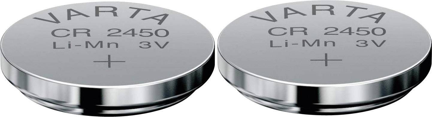 Gombíková batéria Varta CR2450, lítium, 2 ks, 6450101402