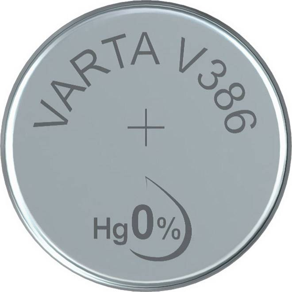 Gombíková batéria 386 Varta, SR43, na báze oxidu striebra