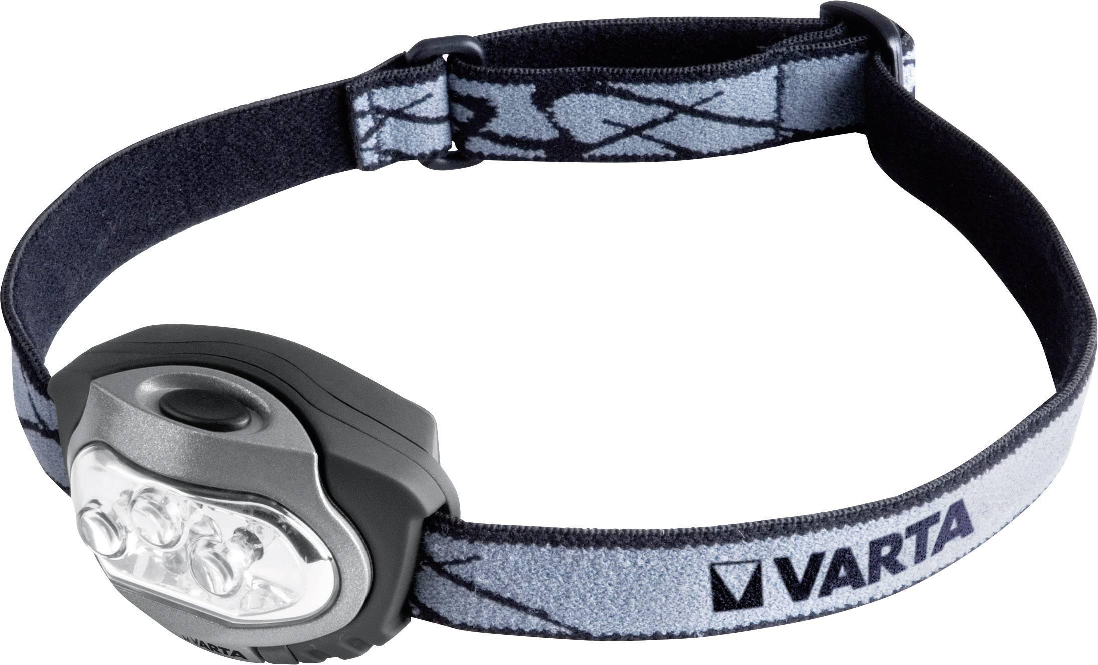 LED čelovka Varta X4 17631101421, na batérie, 79 g, čiernostrieborná