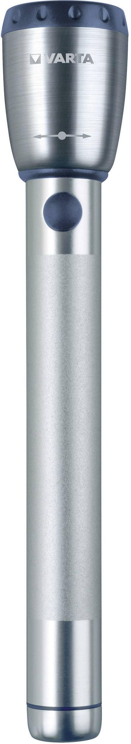 LED vreckové svietidlo (baterka) Varta Premium 2 AA 17635101421, 92 g, na batérie, strieborná