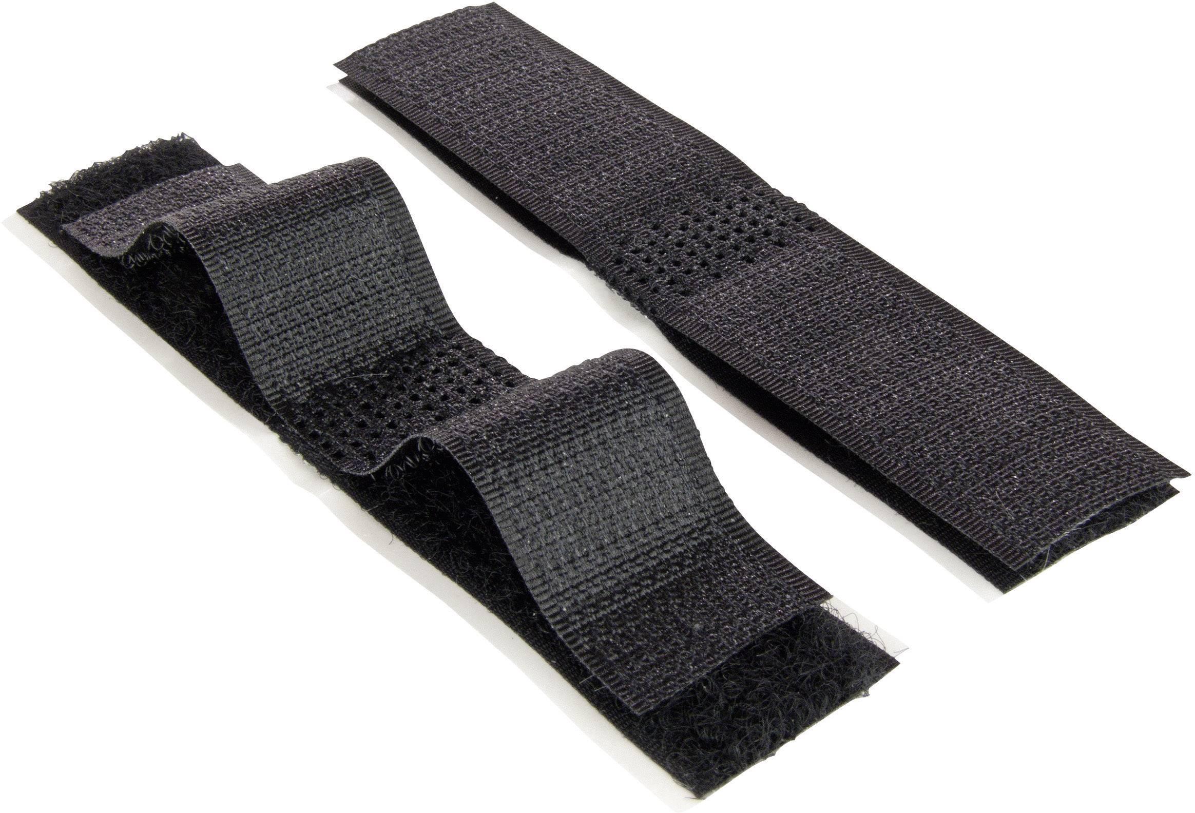 Lepiaci pásik so suchým zipsom VELCRO® brand E1400027533010, (d x š) 100 mm x 20 mm, čierna, 1 ks
