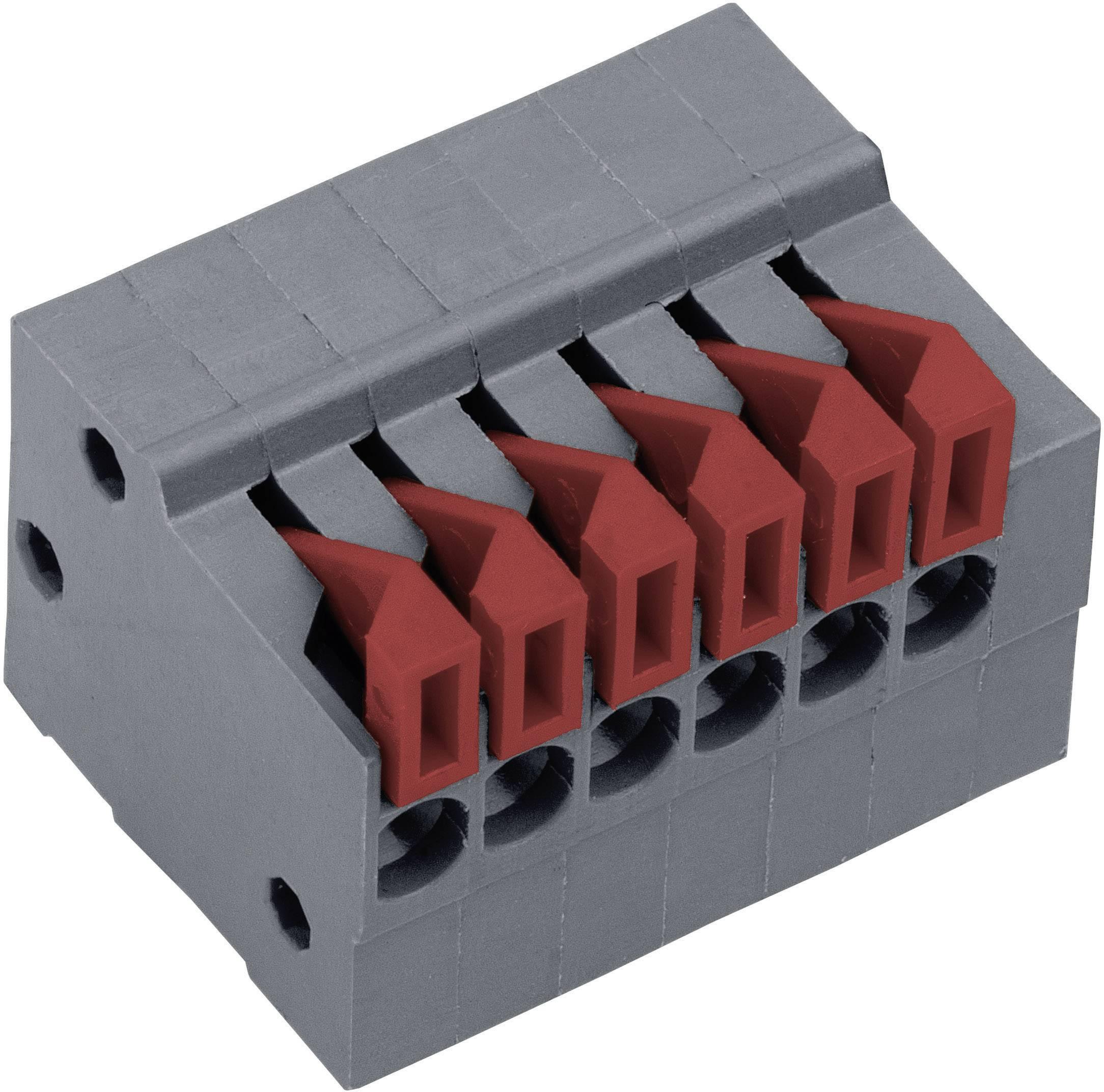 Pružinová svorka PTR AKZ4791/2KD-2.54-H 54791020422F, 0.75 mm², počet pinov 2, čadičovo sivá, 1 ks