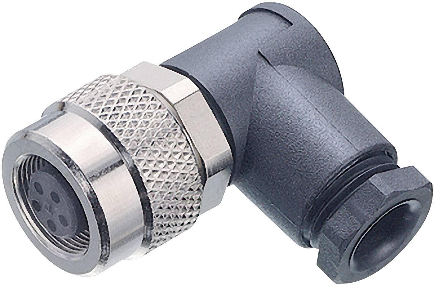 Guľatý konektor submin. Binder 99-0406-70-03, 3-pól., uhlová zásuvka, 3,5 - 5 mm, IP67