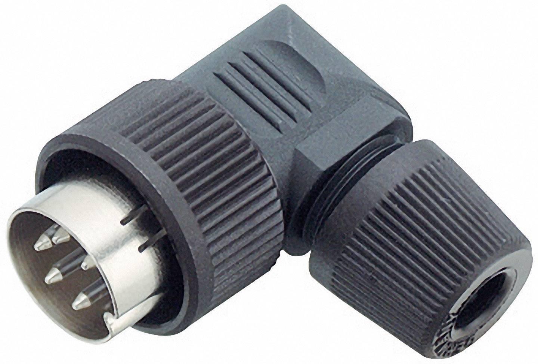 Kabelový konektor Binder 99-0609-70-04, 4pól., 0.75 mm², 4 - 6 mm, IP40, černá
